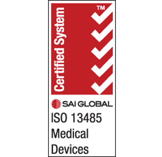 SAI Global ISO Certified logos - 13485 and 9001